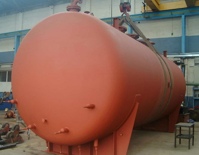 coated pressure vessel